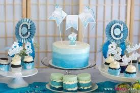 Image Result For 1 Year Old Birthday Boy Blue Ombre Cake Boy