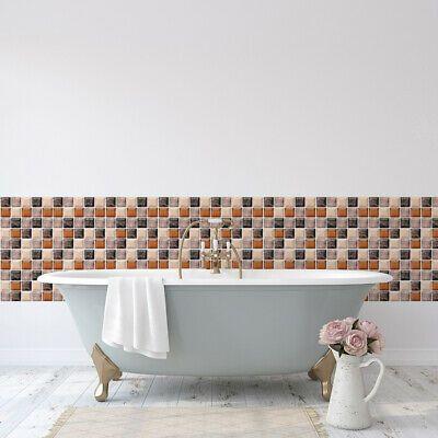 6x 3D Mosaic Self-adhesive Bathroom Kitchen Decor Wall mosaic Tile Stickers