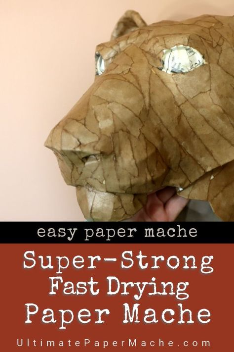 This glue creates super-strong fast-drying paper mache. It isn't the cheapes… This glue creates super-strong fast-drying paper mache. It isn't the cheapest way to make.