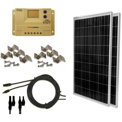 Grape Solar 200 Watt Off Grid Solar Panel Kit Gs 200 Kit The Home Depot In 2020 Solar Panel Kits 100 Watt Solar Panel Solar Panels