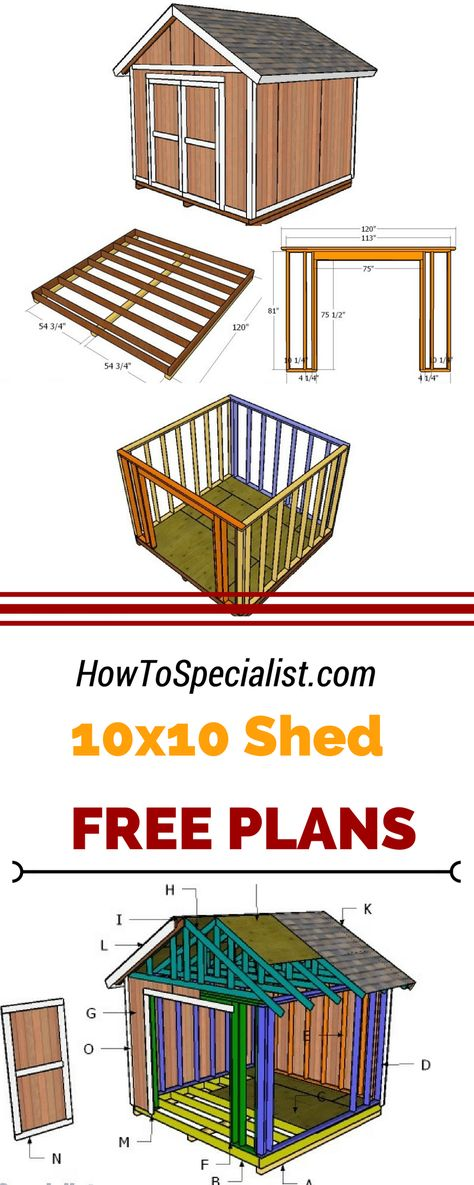 Free 10X12 Shed Plans Download | Do It Yourself Today | Pinterest | Free,  Woodworking And You Ve