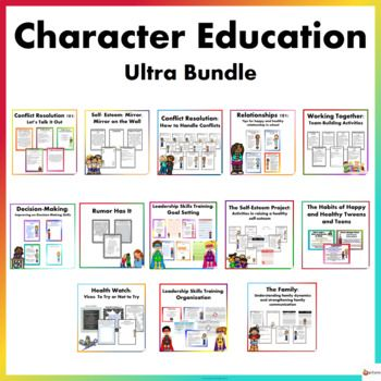 This Character Education Ultra Bundle Includes All 13 Of Our Best Selling Character Education 1 C Character Education Resource Classroom Elementary Counseling