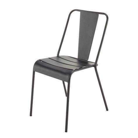 Maisons Du Monde 40 E Chaise De Jardin En Metal Noire Metaal Tuinstoelen Zwart