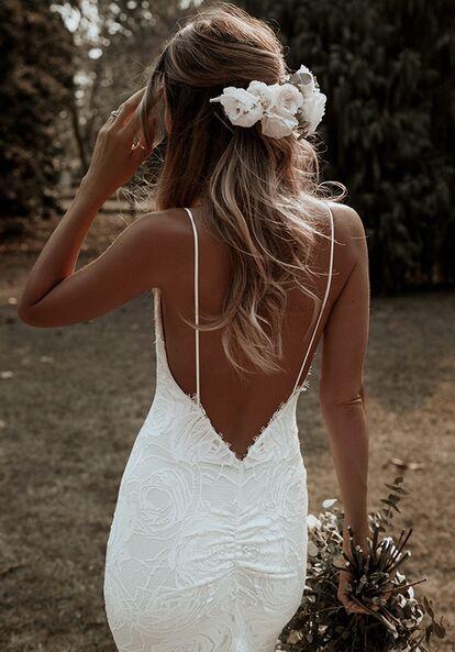Marie's Wedding, Wedding Goals, Wedding Ideas, Backless Wedding, Wedding Lingerie, Wedding White, Casual Wedding, Princess Wedding, Rustic Wedding