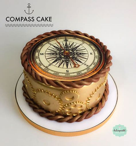 New cake originales men 63 Ideas Pretty Cakes, Cute Cakes, Beautiful Cakes, Amazing Cakes, Sailboat Cake, Nautical Cake, Cakes Originales, Travel Cake, New Cake