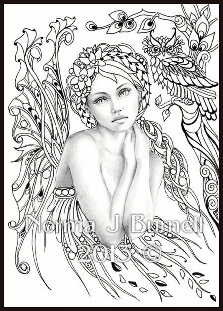 graphic regarding Free Printable Coloring Pages for Adults Fairies titled Pinterest