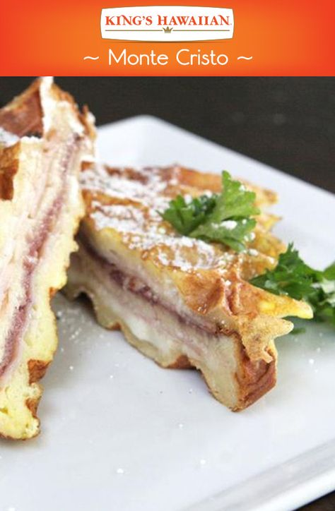 Our Monte Cristo made with KING'S HAWAIIAN Sweet Sliced Bread is basically code for sweet goodness all around.
