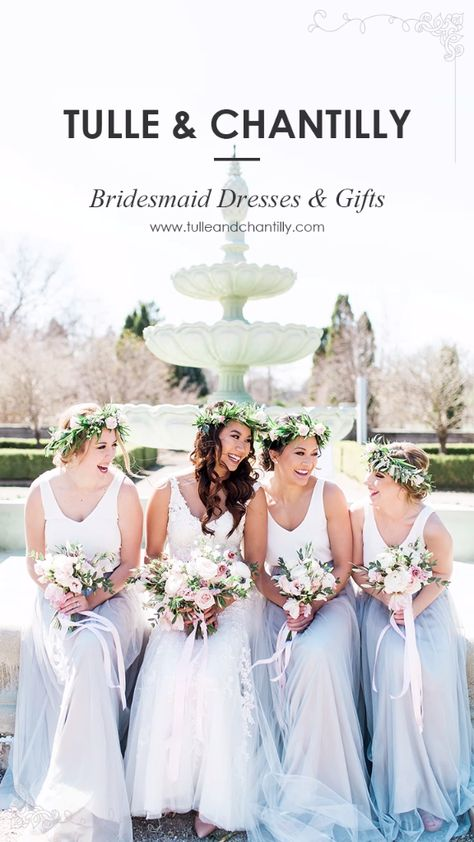 Tulle & Chantilly is an online shop specializing in bridesmaid dresses, bridal gowns, bridesmaid gifts, robes and wedding accessories.