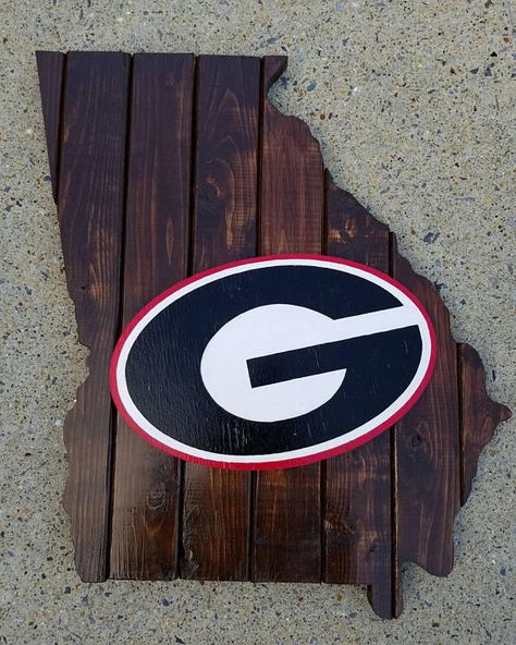 University of Georgia Wood Plank Frame