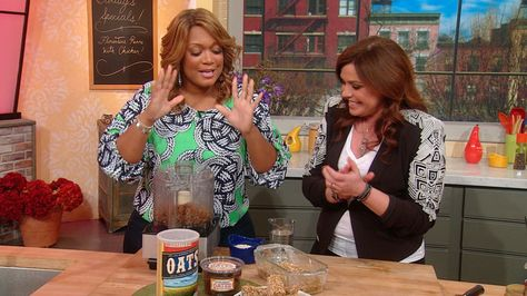 Her two-ingredient recipes wowed our audience the first time around. Now, Sunny Anderson is back with 10 more recipes that are as easy to make as they are fun to eat! Banana Oatmeal Cookies and Cauliflower Pizza Dough? Sold! 2-4-14