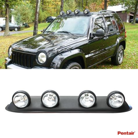 Universal 39 Roof Light Bar W 4x Round Clear Lens Fog Lamps Bulb Switch Wiring Jeep Liberty Bar Lighting Jeep Commander