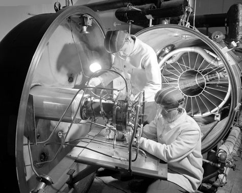 Ion Engine Being Installed in Hig