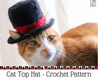Crochet Cat Hat Pattern Beginner Friendly Crochet Pattern For Cats Cat Beanie Crochet Pattern Downloadable Pattern Crochet Cat Accessory Cat Hat Pattern Crochet Cat Hat Hat For Cat