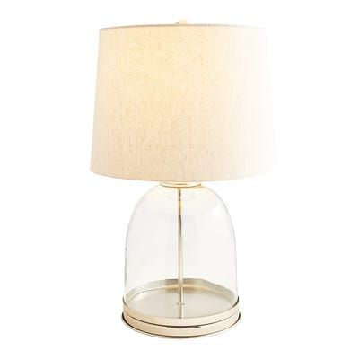 Silver Glass Table Lamp Modern Table Lamp Table Lamp Lamp