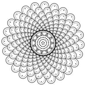 Spiral Mandala Coloring Page M110 Mandala Coloring Pages