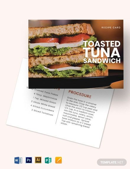 Sandwich Recipe Card Template Download 1 Cards In Adobe Illustrator Adobe Photoshop Microsoft Word Microsoft Publisher Apple Pages In 2020 Recipe Cards Recipe Cards Template Sandwich Recipes