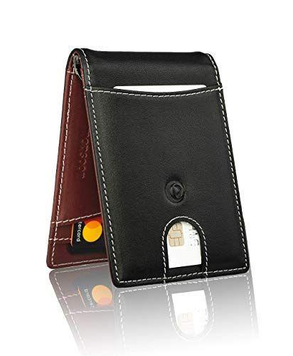 Genuine Leather Wallets For Men Bifold Mens Wallet Slim Minimalist RFID Blocking