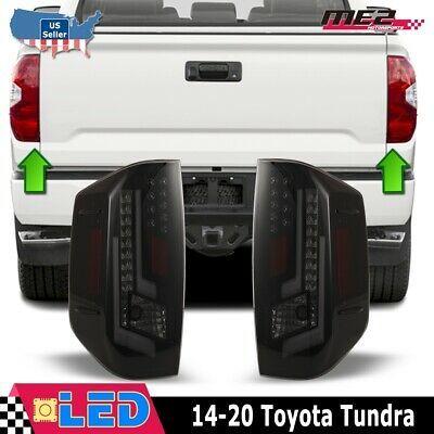 Winjet Oe Factory Fit For 2014 2019 Toyota Tundra Led Brake Tail Lights Smoke Toyota Tundra Toyota Custom Tundra