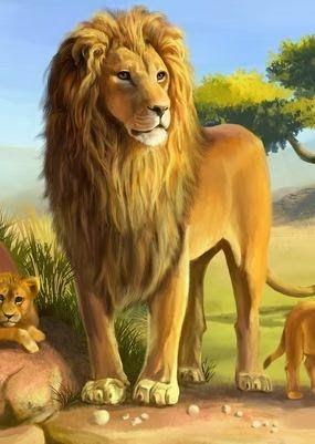 حرية الأسد أسد الغابة يحكي انه في قديم الزمان وفي إحدى القرى البعيدة القريبة من الغابة كان هناك أسد جائع لم يذق طعم اللحم مند أ Animals Lion