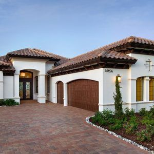 Miami Mediterranean House Colors Exterior With Clay Tile Roof Wall