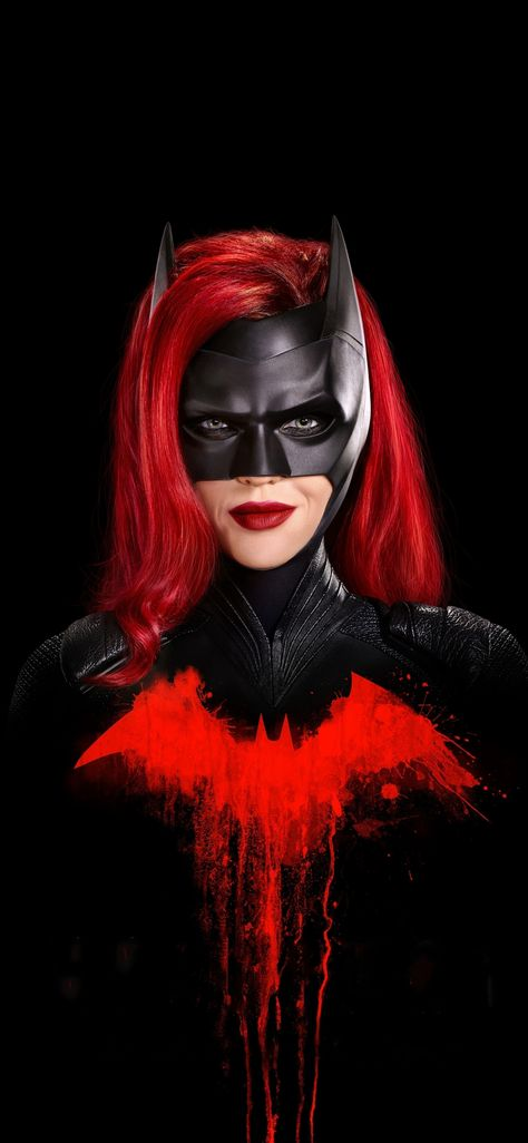 Batwoman, Ruby Rose, minimal, fan art, 1125x2436 wallpaper
