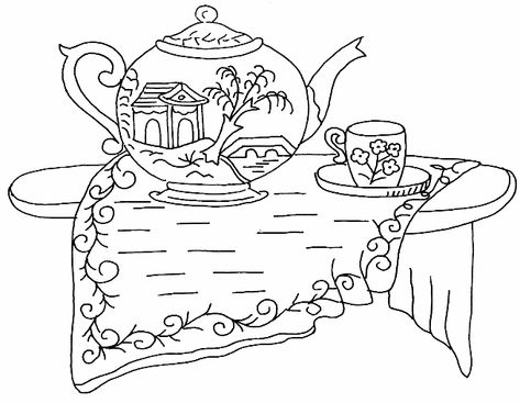 Lovely, free, vintage embroidery pattern with an asian