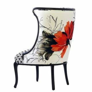 Lily Spice Floral Accent Chair Floral Accent Chair Floral Chair