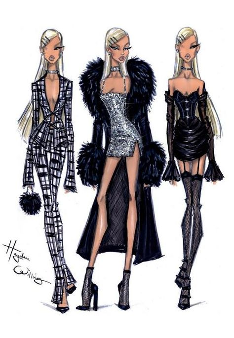 Hayden Williams x Missguided Black Faux .You can find Hayden williams and more on our website.Hayden Williams x Missguided Black Faux . Fashion Design Sketchbook, Fashion Illustration Sketches, Illustration Mode, Fashion Design Drawings, Fashion Sketches, Dress Sketches, Clothing Sketches, Drawing Fashion, Hayden Williams