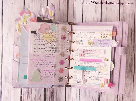 Lucy-Wonderland: week planner #80 #filofax #planner #filofaxpocket