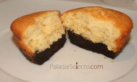 receta de bizcocho y brownie porciones individuales