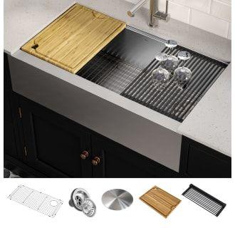 Kraus Kwf410 36 Single Bowl Kitchen Sink Sink Sink Accessories