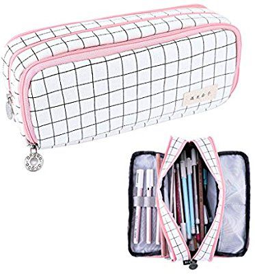 Amazon Com Rolin Roly Pencil Case Big Capacity Pen Stationery Cute Organizer Holder Multifunction With 3 Zipper Big Pen Stationery Pens Pouch Bag Pencil Pouch