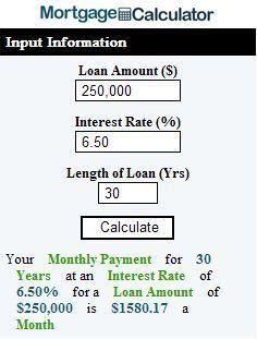 Mortgage Calculator Mortgage Calculator Script Free Mortgage