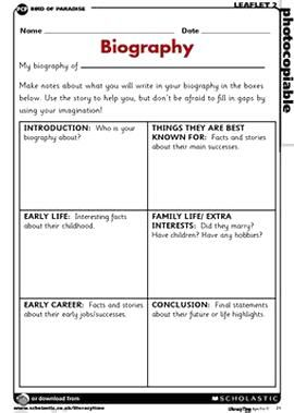 Biography Planning Frame More Biography How To Make Story