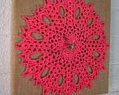 Yarn arts aplenty - This treasury includes things a yarn artist would love or use. There are finished items, patterns and supplies. It is a yarn arts dream! I hope you enjoy this selection of handmade items as I do! featuring Lace and Burlap Clock with hand crocheted doily from #HeritageHeartcraft