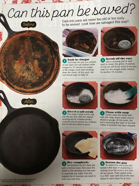 How to salvage a rusty cast iron skillet