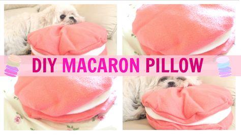 DIY Room Decor ♥ Cute Macaron Pillow (NO SEW) \u2022 Mimicupcakie IM MAKING THIS FOR MY ROOM   Room ideas   Pinterest   Diy room decor