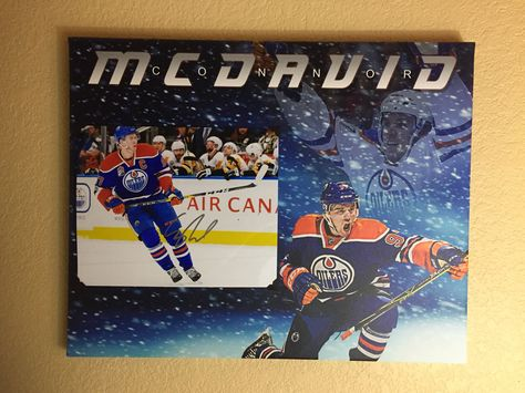 674e30f19a76 Excited to share the latest addition to my  etsy shop  Edmonton Oilers  superstar Connor McDavid signed 8x10 photo (with COA) on a magnificent  16x20 canvas.