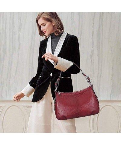 f73eb79a7d S-ZONE Womens Hobo Genuine Leather Shoulder Bag Top-handle Handbag Ladies  Purses -