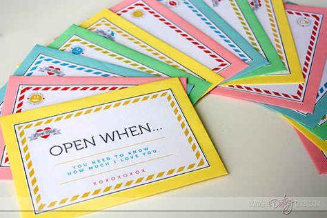 """""""Erst öffnen, wenn Du…""""-Briefe."""