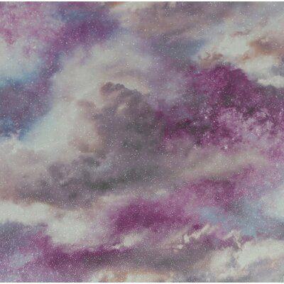 Wrought Studio Forkland Galaxy 33 L X 20 5 W Wallpaper Panel Blush Wallpaper Galaxy Wallpaper Purple Wallpaper