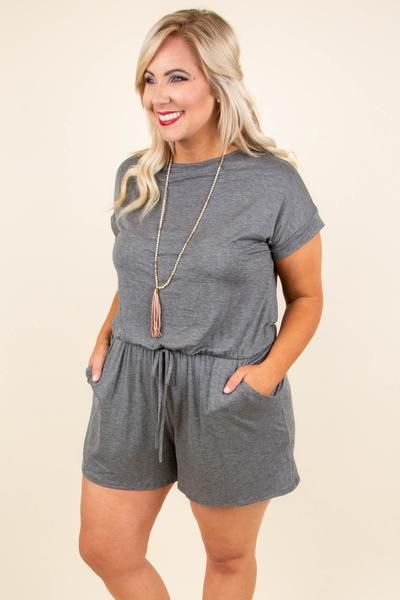 Sweet Saturday Romper, Charcoal in 2019   Summer  Style  2019