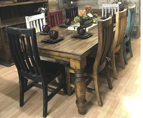 Canyon 8 Multicolor Table Set In 2020 Western Furniture Rustic