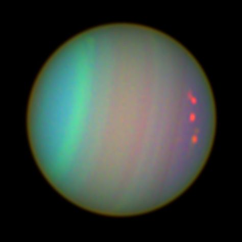 Uranus as Seen with colour Filters Orion Nebula, Andromeda Galaxy, Helix Nebula, Carina Nebula, Sky Watch, Alien Planet, Hubble Images, Hubble Space Telescope, Aesthetic Images