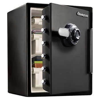 Costco S Sentrysafe 2 05 Cu Ft Fireproof Waterproof Safe W Dial Combination In 2020 Combination Safe Waterproof Safe Fireproof Waterproof Safe