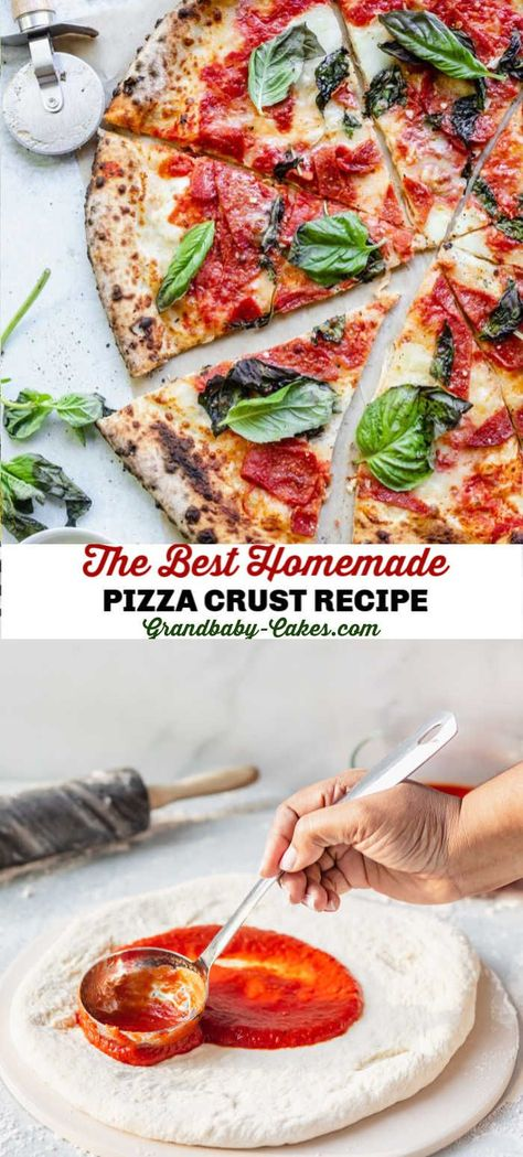 Take a trip to Italy with this homemade Neapolitan pizza! Learn how to make pizza dough using fresh, simple ingredients and create an authentic crust that is crisp, light and slightly charred! Homemade Pizza Crust Recipe, Best Homemade Pizza, Neapolitanische Pizza, Pizza Quesadilla, Chicken Pizza, Neopolitan Pizza, Fresco, Easy Pizza Dough, How To Make Pizza