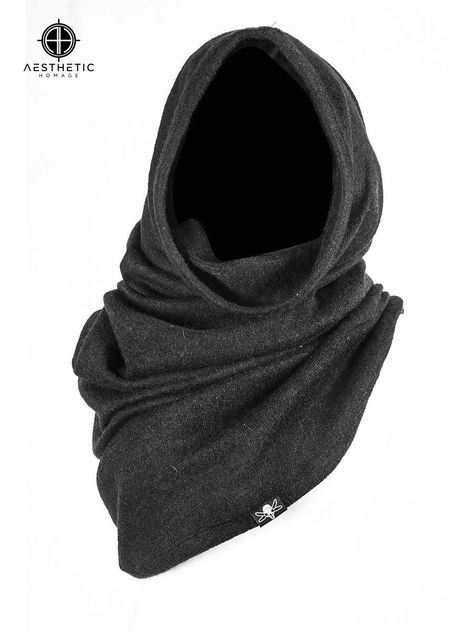 Laena Hooded Scarf – The Church of Sanctus Cyberpunk Mode, Cyberpunk Fashion, Dystopian Fashion, Apocalyptic Fashion, Post Apocalyptic Clothing, Hooded Scarf, Character Outfits, Dark Fashion, Alternative Fashion