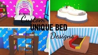 6 Custom Bed Design Ideas Building Hacks Roblox Adopt Me Its Sugarcoffee Adopt Bed Building Custo In 2020 Custom Bed Custom Pet Furniture Unique Bed Design
