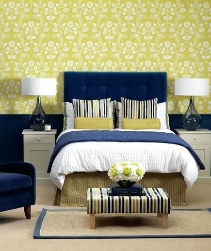 Navy Blue Yellow And Grey Bedroom Navy Blue And Yellow Bedroom