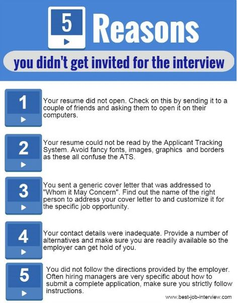 5 reasons you didnu0027t get the job interview Job Search, Job - reasons why you should customize your cover letter
